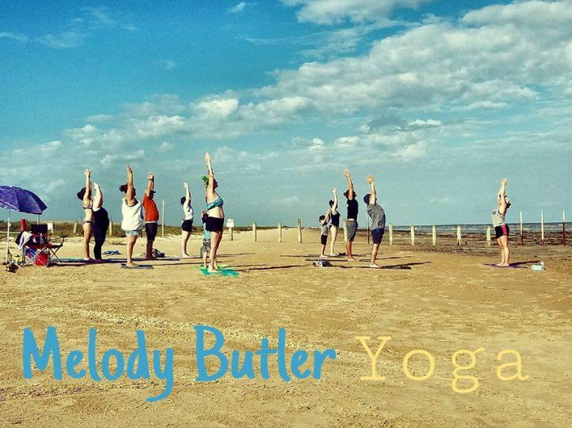 beach yoga mb