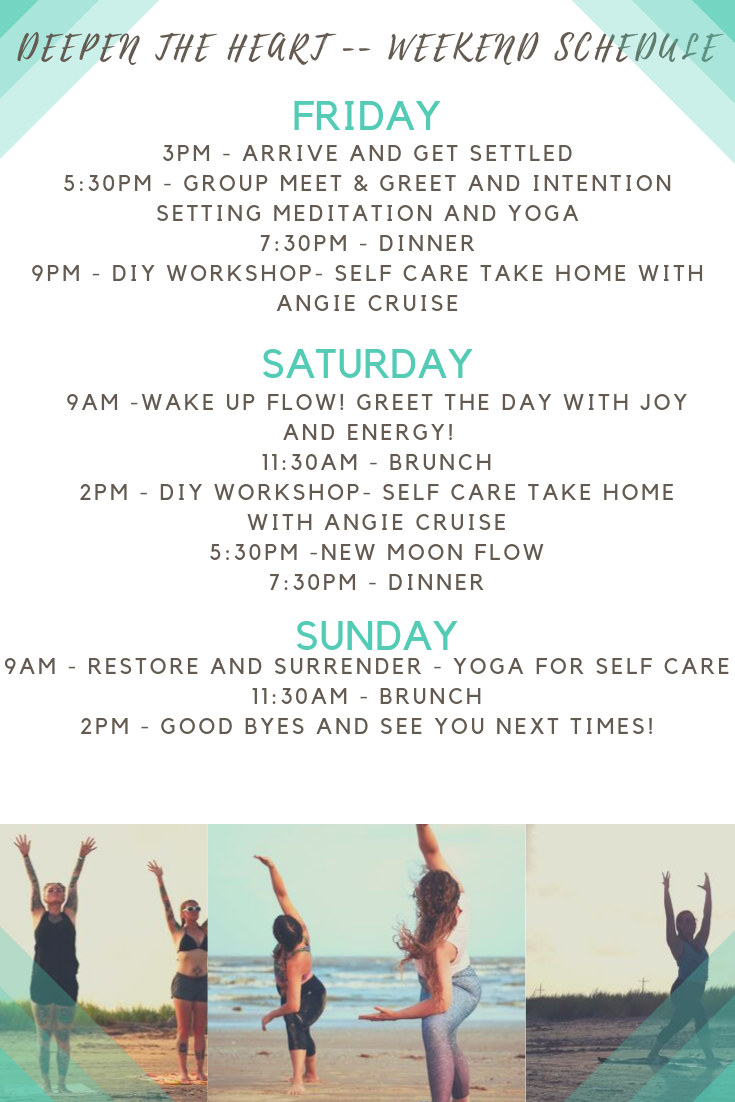 2019 Deepen the heart weekend schedule